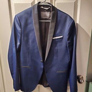 blue blazer zara